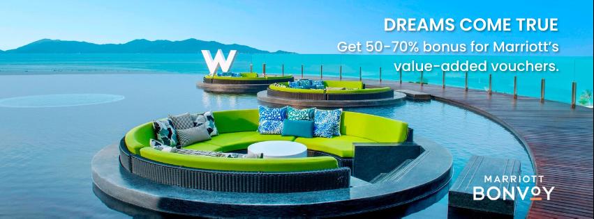Enjoy upto 70% Bonus at Marriott Hotels!
