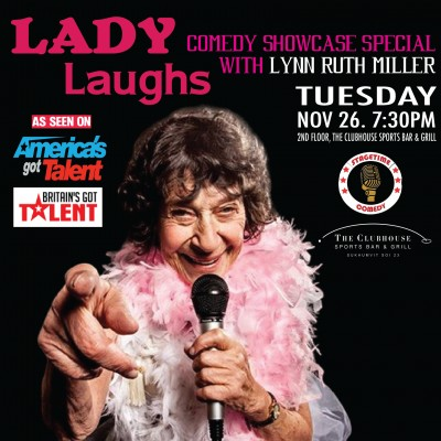 Lady Laughs With 85 Year Old Comedian Lynn Ruth Miller