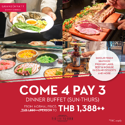Come 4 Pay 3 for Dinner buffet (Sun-Thurs)