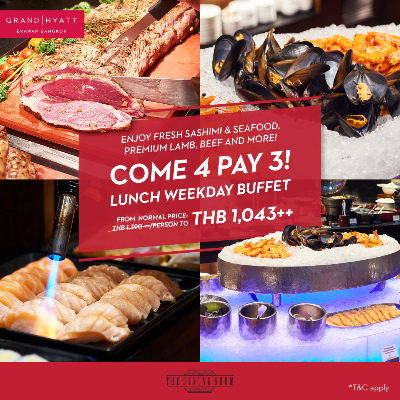 Come 4 Pay 3 for Lunch buffet (weekday)