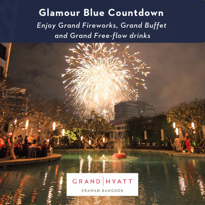 Ultimate Glamour Blue Countdown by the pool