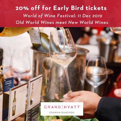 2nd edition of World of Wine festival by Grand Hyatt Erawan Bangkok