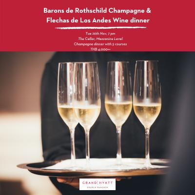 Barons de Rothschild champagne & Flechas de Los Andes Wine Dinner