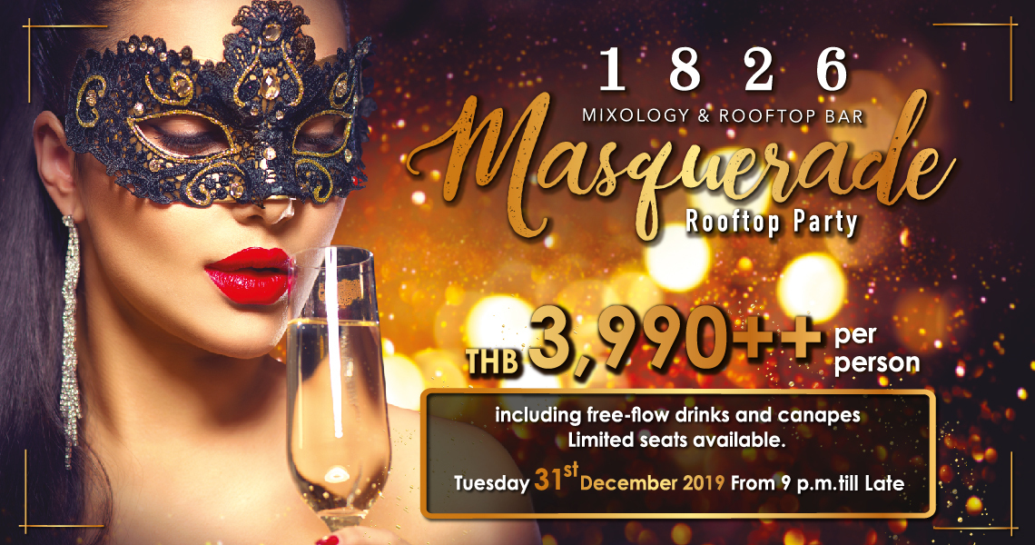 Masquerade Rooftop Party @1826 Bar