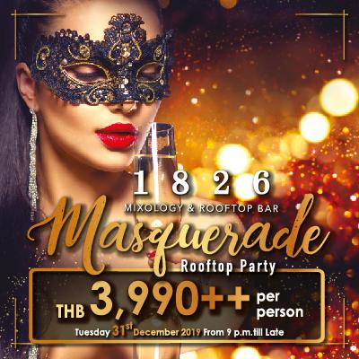 Masquerade Rooftop Party @1826 Bar