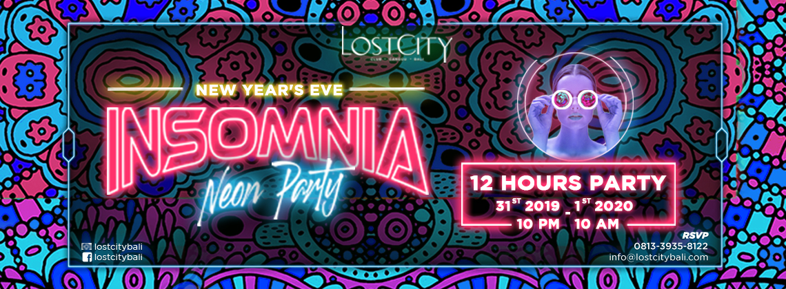 NYE 2020 - INSOMNIA - 12 hrs party! Longest Party in Bali!