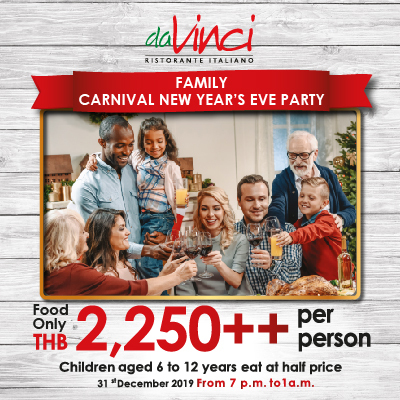 Family Carnival New Year's Eve Party @da Vinci