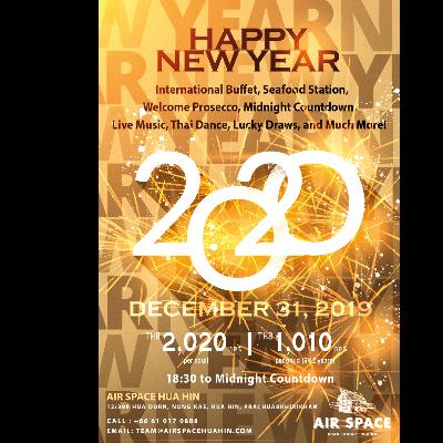 New Year Eve Dinner Buffet at Air Space Hua Hin