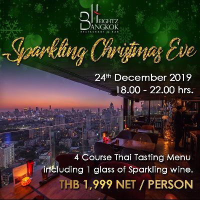 Sparkling Christmas Eve Dinner at Bangkok Heightz