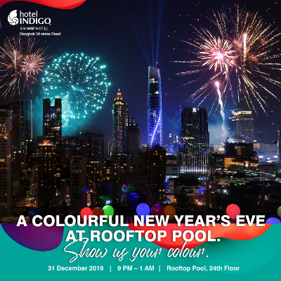 A Colourful New Year's Eve at Rooftop Pool