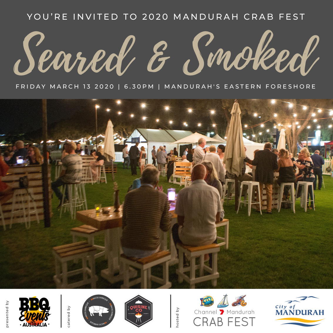 Crab Fest Event - Seared & Smoked ** CANCELLED **