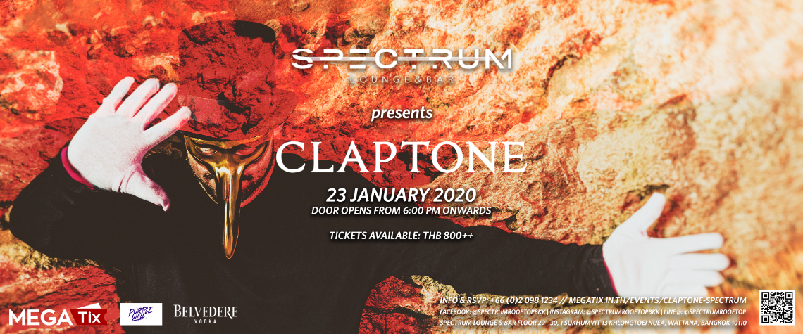 Spectrum Lounge & Bar presents Claptone