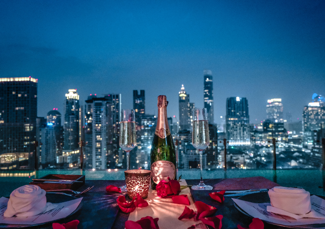 Unforgettable Love, Valentine's Dinner by Infinity Pool