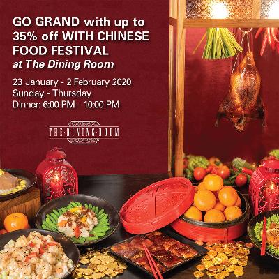 Chinese Food Festival Dinner Buffet (Sun-Thurs)