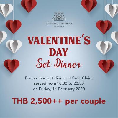 Valentine's Day Set Dinner