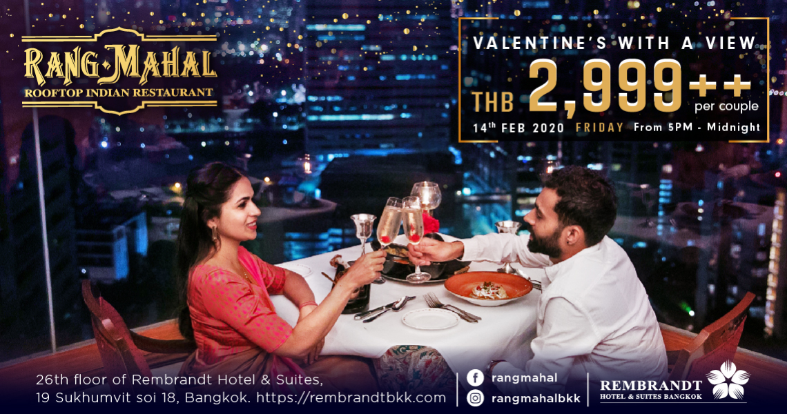 Valentine's with a view at Rang Mahal