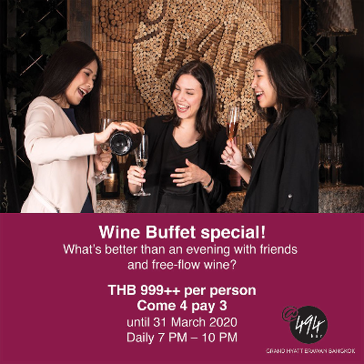 Come 4 Pay 3 for Wine Buffet at Bar@494