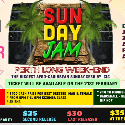 Sunday Jam Perth Long Weekend