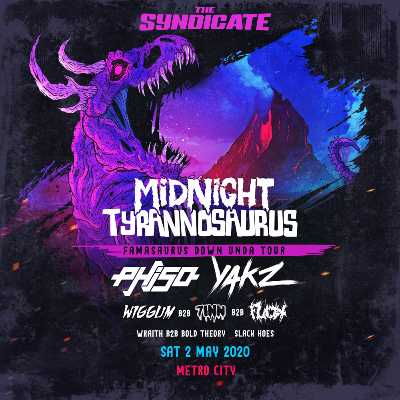 The Syndicate ft. Midnight Tyrannosaurus, Phiso, Yakz, Wiggum b2b 7Inn b2b Flick