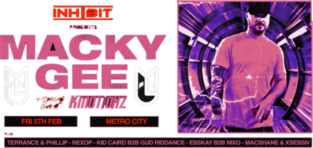 Inhibit presents Macky Gee & K Motionz