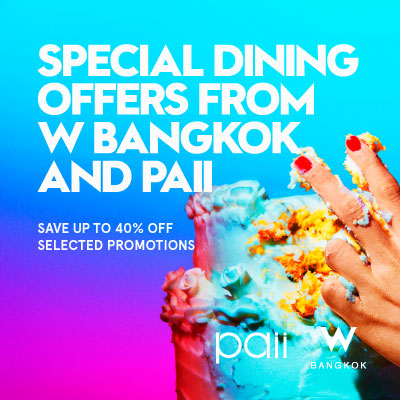 Special Beverage and Food Offers from W Bangkok
