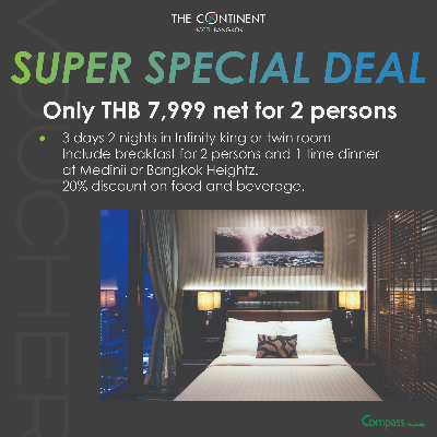 SUPER SPECIAL DEAL - 3 days 2 nights in Infinity king or twin room