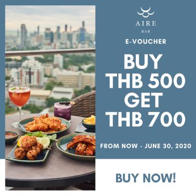 AIRE BAR E-voucher THB 500 Get THB 700