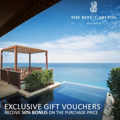 The Ritz-Carlton, Koh Samui | Exclusive Gift Vouchers with 50% Bonus