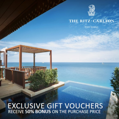 The Ritz-Carlton, Koh Samui | Exclusive Gift Vouchers with 50% Bonus