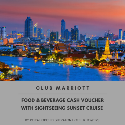 Food & Beverage Cash Voucher With Sightseeing Sunset Cruise For Club Marriott Member