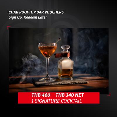 CHAR ROOFTOP BAR VOUCHERS - SIGN UP REDEEM LATER