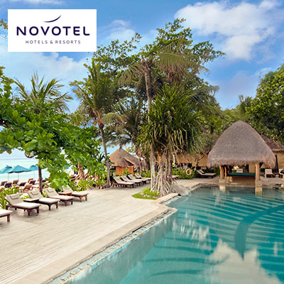 Save up to 45% | Novotel Bali Benoa  •  Hotel Room and Day Pass Vouchers