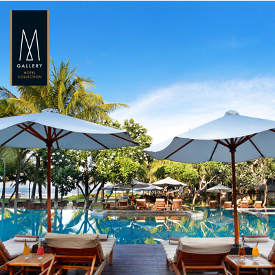 Save up to 40%  l  The Royal Beach Seminyak Bali - MGallery  •  Hotel Room and Day Pass Vouchers