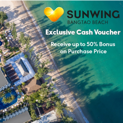 Exclusive Cash Voucher  |  Sunwing Bangtao  |  Phuket Resort
