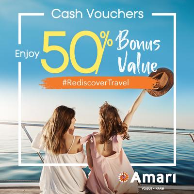 Amari Vogue Krabi   Enjoy 50% Bonus Value