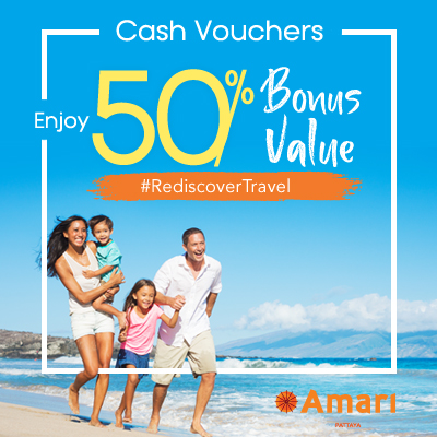 Amari Pattaya | Enjoy 50% Bonus Value