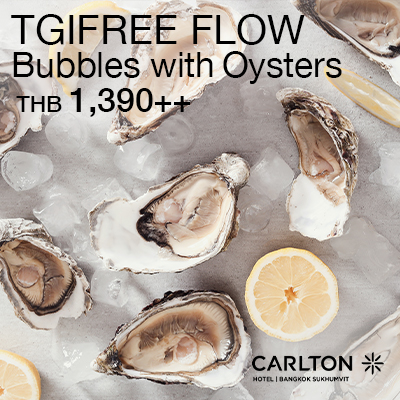 TGIFREE FLOW Bubbles with Oysters