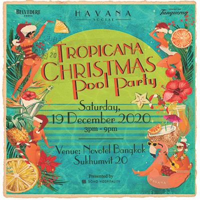 Tropicana Christmas Pool Party