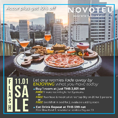 11.01 Flash Sale All you can eat with Free Flow Mocktail