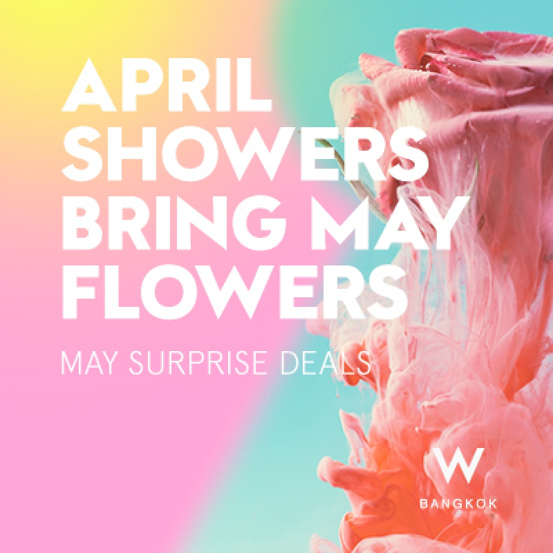 April Showers Bring May Flowers | May Surprise Deals (buffet, cash voucher and more)