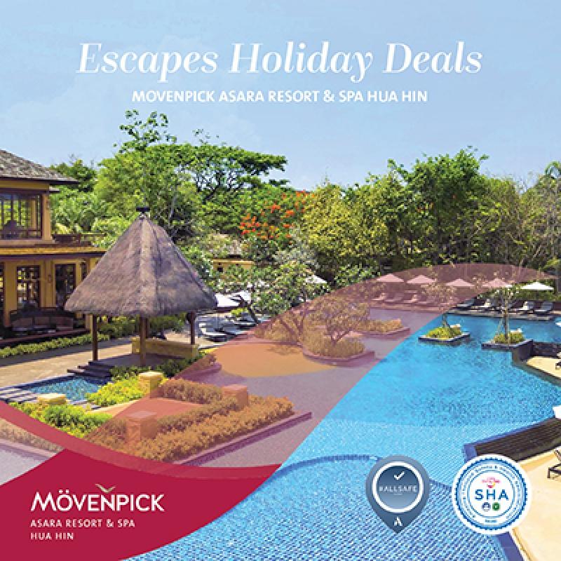 Escapes Holiday Deals   Movenpick Asara Resort & Spa Hua Hin