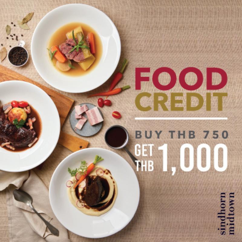 THB 1,000 Food Credit Voucher   Sindhorn Midtown Hotel Bangkok