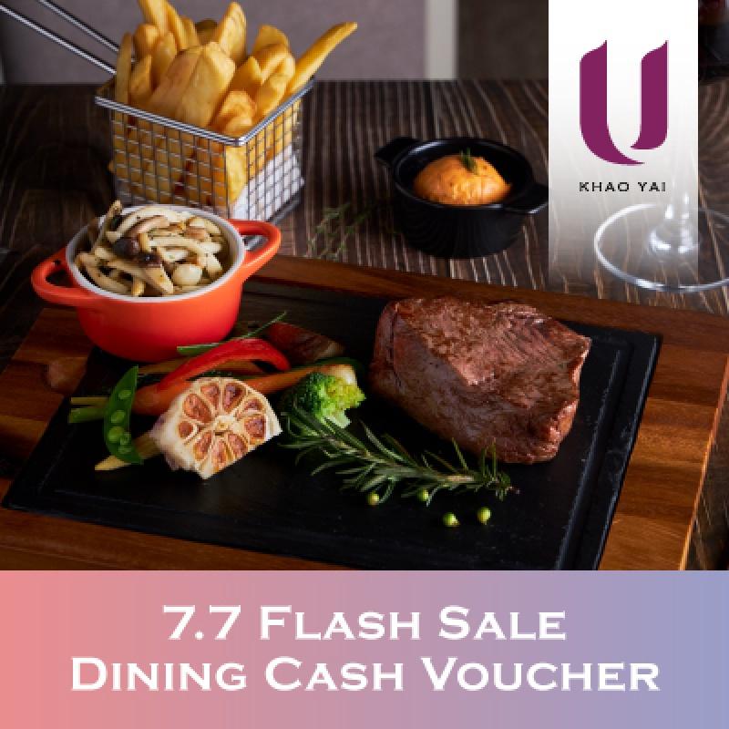7.7 Dining Cash Voucher   U Khao Yai - U Hotels & Resorts