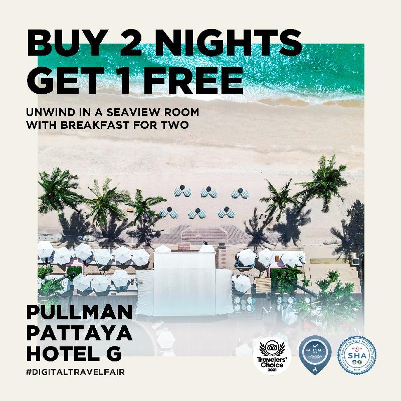 1st Megatix Digital Travel Fair with Buy 2, Get 1 Free at Pullman Pattaya Hotel G
