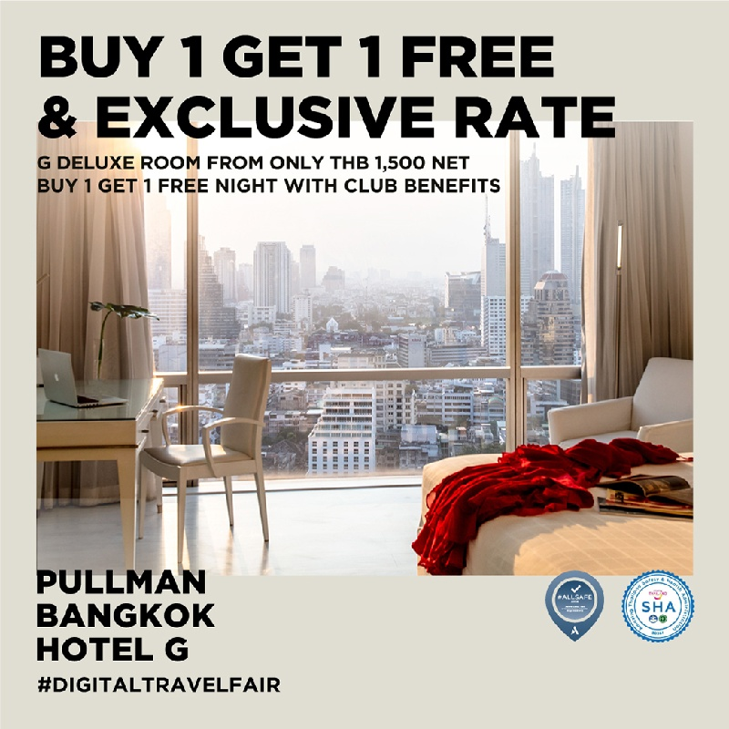 1st Megatix Digital Travel Fair with Free Stay & Special Rate from Pullman Bangkok Hotel G