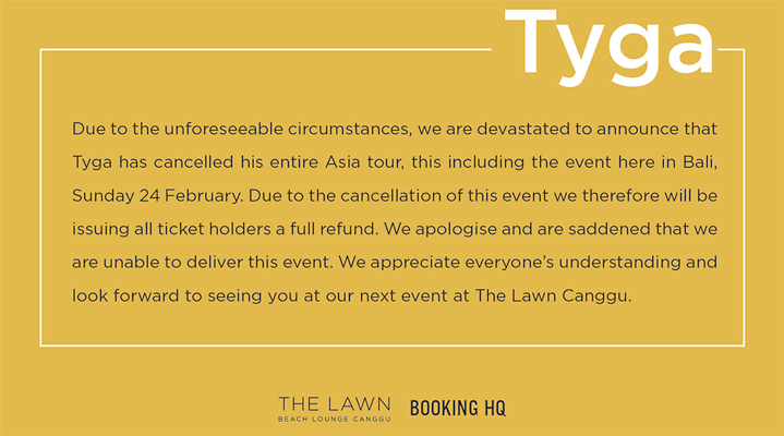 TYGA - One Night Only ** CANCELLED **